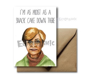 Greeting Card Strangers With Candy Jerri Blank Amy Sedaris Funny Hand Drawn Card Don't Be A Stranger