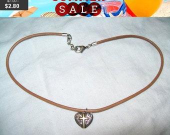 SALE 60% Off Heart cross pendant necklace