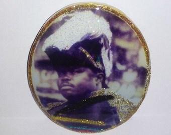 Oval Marcus Garvey Badge