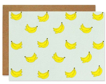 Mini Banana Blank Folding Card