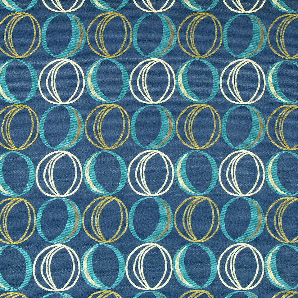 Bradberry Downs Blue Aqua Teal Light Green Yellow Wool: Teal Navy Blue Geometric Upholstery Fabric Large Dot Blue