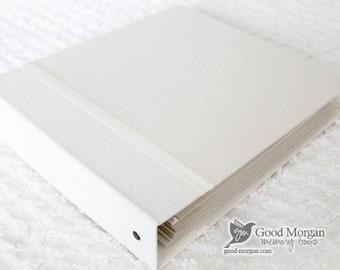 0 to 12 months Baby Memory Book - Cream Deluxe Album