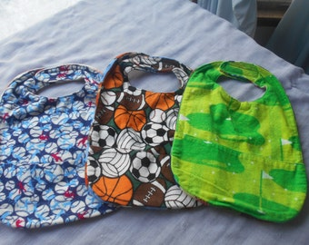 Sports SMALL REVERSIBLE BIBS with Pocket.