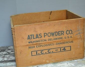 Atlas Explosives Crate ~ Dynamite Crate ~ Dovetailed Crate ~ Vintage Crate ~ Epsteam