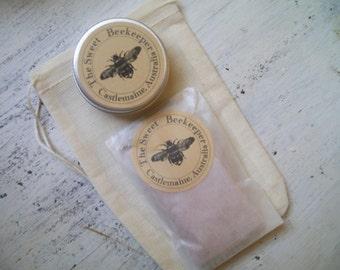 FREE SHIPPING skin healing duo gift pack-organic Australian face scrub and organic shea honey lip butter.