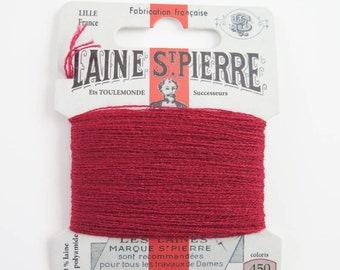 French Wool Embroidery Floss Laine St. Pierre for Hand Embroidery, Darning | Wool Embroidery Thread in COPPER (#450-A1)