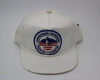 Vintage AUGUSTA COUNTY BOWLING Snapback Hat Cap Sports Athletic bowling lane amf harrisonburg virginia
