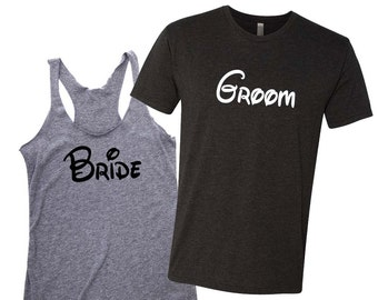 Bride and Groom Couples Shirts, Honeymoon Shirts, Husband and Wife Shirts, Just Married Shirts, Couples Shirts, Bride Shirt, Groom Shirt