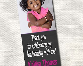 50, 100 or 150 Photo Bookmarks, Birthday Invite/Party Favors & Keepsake for your guests
