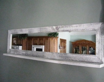 Barnwood Mirror with Shelf