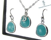 Mint Glass Earrings, Dangle Earrings, Drop Earrings, Gift, Jewelry