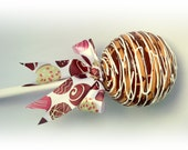 Giant Fake Cake Pop Photo Prop Ornament Decoration White Chocolate Caramel Swirl