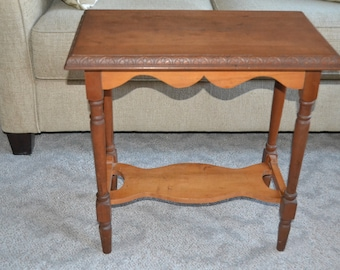 Antique Farmhouse Table Night Stand