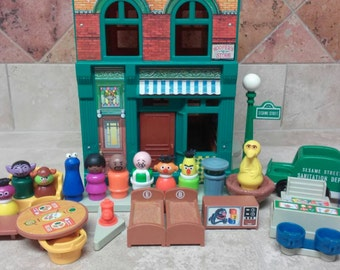 Vintage Fisher Price Play Family Sesame Street House