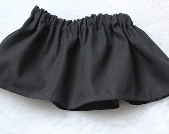 Market Circle Skirt ~Solid BLACK Custom Boutique Girls Twirl Skirt/Infant/Toddler Girls-Made to order:  Newborn to 5/6 Girls