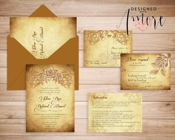printable lace elegant wedding invitations chicago victorian rose
