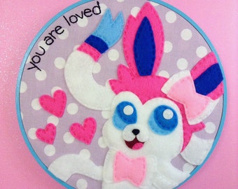 Pokemon Sylveon Embroidery Hoop 8 inches