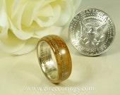 Jameson whisky barrel and silver dollar wedding ring