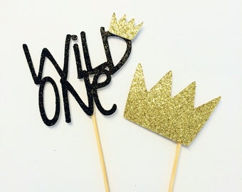 Wild One- Cupcake toppers- Where the wild things are
