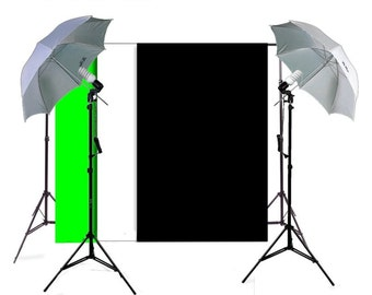 Complete Basic Home Photography Equipment Studio Package, Photo Lighting, Photography Backdrop Stands  Free Shipping. 40 Dollars Off COUPON!