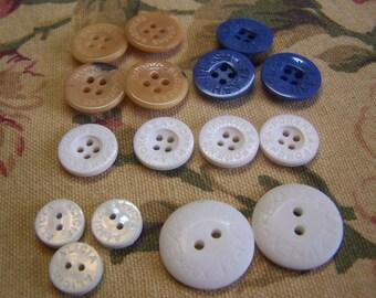 16 Odd Lot Name Brand Buttons, 5 Sets (015-056)