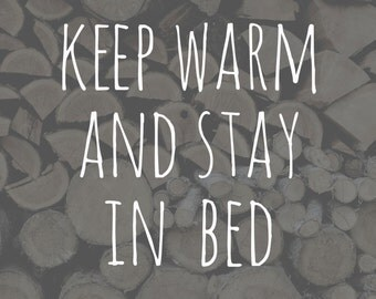 "Keep Warm - 8x8"" Art Print"