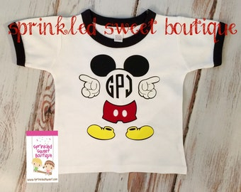 Custom Monogram Mickey Inspired Shirt Can Name Perfect for Birthday or First Family Disney Trip Vacation May hing Family