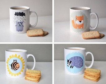 SALE - Slight Seconds - Mugs Mugs Mugs! Multi Listing - Percy Cat, Whale