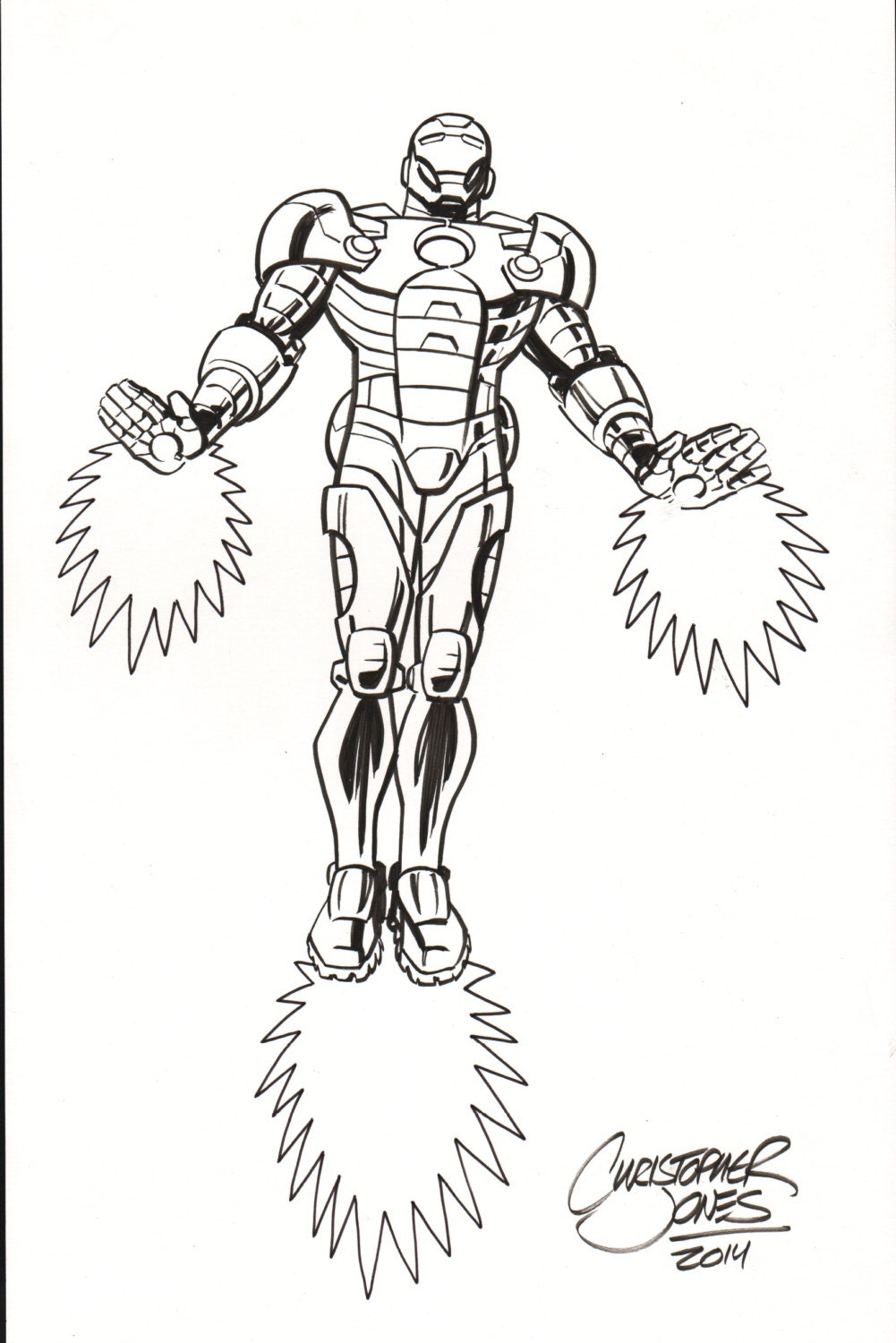 Line Art Etsy : Iron man original avengers line art by chrisjonesart on etsy