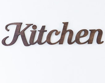Kitchen wooden sign home restaurant bar wall decor any color