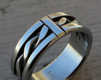 """33 """"BREGDAN"""" handmade stainless steel ring (not casted)"""