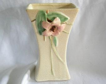 McCOY Dogwood Flower Motif Vase | Vintage Circa 1947