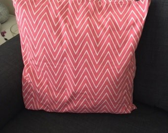 Caitlin Wilson Coral Tall Chevron Pillow 20x20