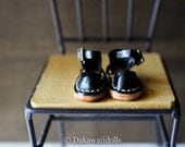 Blythe Doll / Hand made Leather shoes / Sandal /black