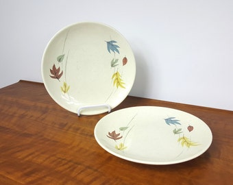 Set of 2 Franciscan Autumn Leaves Plates