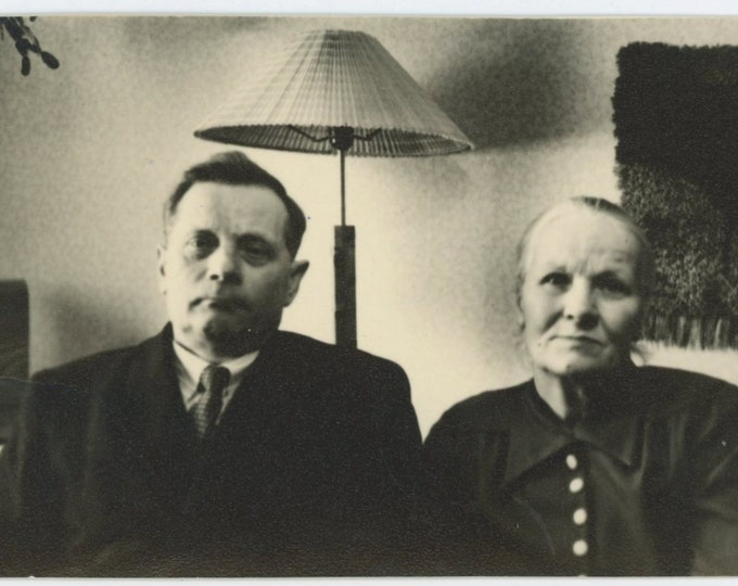 Couple, Finland, 1950s Vintage Snapshot Photo [71480]