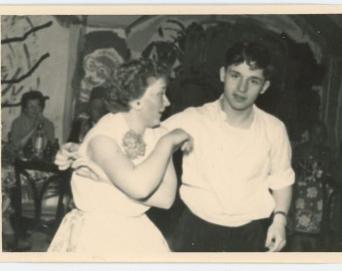 Vintage Snapshot Photo: Dancers, c1950s (69498)
