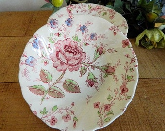 Four Vintage Johnson Bros Rose Chintz China Fruit Bowls England