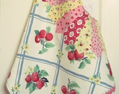 vintage sweet summer tea towel