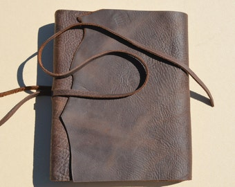 Custom Order Leather Bound Notebook Lined Brown Journal Travel Diary (501)