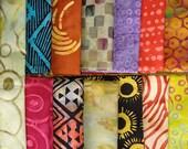 Contemporary BATIK Scrap Baggie - Destash from Painted Threads