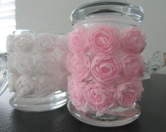 Girlie girl flower stash jar/spice storage/decorative jar