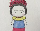 Little Frida Watercolor