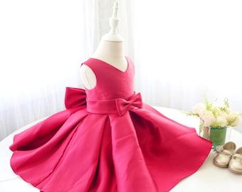V-neck Toddler Glitz Pageant Dress, Baby Birthday Dress, Infant Pageant Dress, Baby Flower Girl Dress, PD102-2