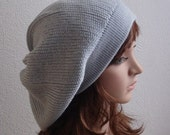 Beret slouchy hat baggy beret handmade knitted hat slouch beanie stylish beret modish hat