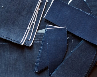 Selvedge Denim Scraps // Cone Mills USA Denim // per lb