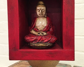 Up-cycled Assemblage Primitive Shrine, Small Buddha