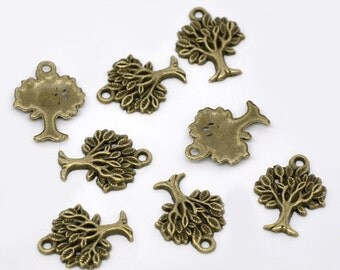 10 pieces Antique Bronze Tree Charms