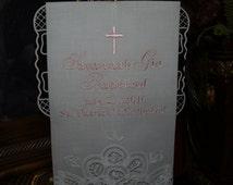 Christening or Baptismal Towel For Baby Girl or Boy
