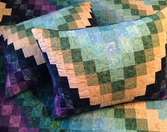 Custom Bargello Quilt Pillow Shams